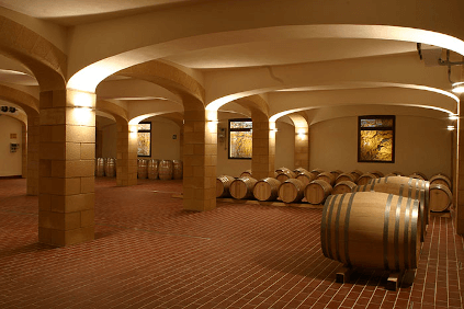 In the barrique cellar of Cantine Minini