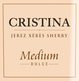 De Cristina Medium van González Byass is een prachtige, fluweelzachte sherry uit de Spaanse wijnstreek DO Jerez, die wordt gevinifieerd van de druivensoorten Palomino Fino (87%) en Pedro Ximenez (13%). In het glas schittert deze sherry in een warme amberkleur met gouden accenten. Het intense en aromatische bouquet onthult intense tonen van specerijen, gedroogde vijgen en rozijnen, evenals subtiele nuances van eikenhoutkruiden. In de mond presenteert deze sherry zich fluweelzacht en vol met een fijne en fruitige zoetheid. De lange nagalm is zeer aromatisch. Vinificatie van de González Byass Cristina Medium De druiven worden apart geoogst en apart vergist in roestvrijstalen tanks. De daaropvolgende rijping van 6 jaar in de soleras gebeurt eveneens afzonderlijk. Pas na deze rijpingsperiode worden de twee druivensoorten samengevoegd en nog eens 2 jaar in de Christina-solera geplaatst. Na een rijping van in totaal 8 jaar wordt deze prachtige sherry gebotteld. Er worden slechts 600 liter vaten van Amerikaans eikenhout gebruikt. Aanbevolen voedsel voor de González Byass Cristina Medium Geniet van deze heerlijke sherry bij kleine notensnacks, allerlei soorten patés of ook bij pittige kaasplankjes met bijvoorbeeld blauwe kaas, Epoisses of Munster.
