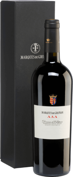 The AAA Dominio de Valdepusa from Marques de Grinon is an outstanding, limited top-quality red wine made from the Graciano and Petit Verdot grape varieties. This red wine owes its name to the daughters of Carlos Falcó. All three daughters - Alejandra, Tamara, Aldara - have their own personality, which the winemaker wants to express in this wine. Each daughter has the letter A three times in her name. In the glass an intense black-blue colour shines with violet reflections. The intense bouquet is carried by lush aromas of fresh mint and red roses. This is accompanied by notes of black fruit - especially plum and raspberry - and exotic spices. On the palate this excellent structured red wine convinces with a fleshy structure, which is interwoven with silky tannins. The finish of this Spanish wine is surprisingly long and precise. Vinification of the Marques de Grinon AAA From 14 year old vines in the Spanish growing region D.O. Dominio de Valdepusa are the grapes for this limited edition wine. The vines grow on limestone and clayey soils in flat locations (high plateau). The grapes are harvested very carefully by hand and selected strictly in the vineyard. A second selection of the grapes takes place in the wine cellar and then the grapes are gently pressed. The resulting mash is fermented in stainless steel tanks. After the fermentation process is completed, this red wine matures for 30 months in new French oak barrels. Food recommendation for the AAA Dominio de Valdepusa Marques de Grinon This dry red wine from Spain is an excellent soloist, which should be decanted early. But also to game dishes in dark sauce this wine is a pleasure. Awards for the Dominio de Valdepusa AAA Marques de Grinon Vinous: 93 points for 2012 The Wine Advocate: 95 points for 2010