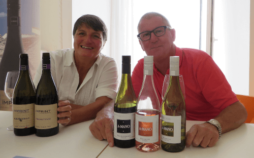 The two winegrowers Mark and Elvezia from A Mano