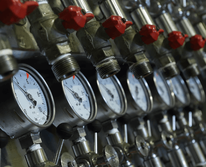 Pressure control on the tanks