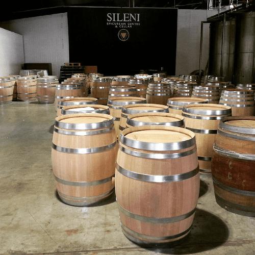 Barrels over barrels in the wine cellar of Sileni