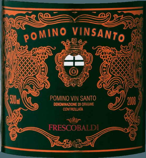 De Pomino Vinsanto DOC van Castello Pomino van Frescobaldi schittert intens amberkleurig met rood-gouden reflexen. De neus onthult een boeket van zoete aroma's, van roomkaramel en honing tot kruidige cake, met duidelijke hints van vanille en nootmuskaat en een duidelijk waarneembare alcoholische noot. Elegantie en warmte verrassen in de mond, zacht in de mond met frisse, levendige zuren die na jaren rijpen nog steeds aanwezig zijn. De afdronk is lang en aanhoudend met een verrukkelijke nasmaak van geroosterde hazelnoten en notendop. Productie van de Pomino Vinsanto door Castello Pomino van Frescobaldi Deze klassieke Toscaanse zoete wijn van Castello Pomino wordt gevinifieerd uit de inheemse Trebbiano, Malvasia toscana en San Colombano druivensoorten die in de wijngaarden van de familie Frescobaldi worden verbouwd. De malolactische gisting vindt plaats tijdens de lange rijping in houten vaten, en de rijpingsperiode is 4 jaar. Aanbevelingen voor de Pomino Vinsanto van Castello Pomino Vinsanto is een wijn voor contemplatieve gelegenheden, voor feestelijkheden, als bekroning van een maaltijd, als meditatiewijn die goed samengaat met gedroogd fruit en zoet gebak. Het wordt aanbevolen om het in grote glazen te serveren. Awards James Suckling - 94 punten