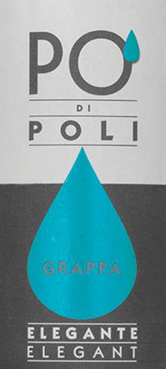 DePo' di Poli Elegante van Jacopo Poli is een fluweelzachte, elegante grappa gedistilleerd uit de draf van de Pinot Bianco druif (100%). In het glas heeft deze Italiaanse druivendraf brandewijn een heldere, transparante kleur. Het fijnkruidige bouquet wordt gekenmerkt door een plantaardig aroma - tonen van gedroogde kruiden, buxus en brem met een fijne jeneverbessenkruid komen naar voren. Zeer zacht met een elegante, fluweelachtige textuurdeze grappa streelt het gehemelte. Distillatie van de Jacopo Poli Po' di Poli Elegante De nog verse draf van de Pinot Bianco druif wordt op traditionele wijze gedistilleerd in oude koperen distilleerketels. Na het distillatieproces heeft deze Grappa nog 75 Vol%. Door toevoeging van gedistilleerd water bereikt deze druivendraf-eau-de-vie een alcoholgehalte van 40% vol. Daarna rust deze grappa in totaal 6 maanden in roestvrijstalen tanks om uiteindelijk zacht gefilterd te worden gebotteld. Serveeradvies voor dePo' di Poli Elegante Jacopo Poli Grappa Geniet van deze grappa op een temperatuur van 10 tot 15 graden Celsius als een heerlijke afsluiting van een heerlijke maaltijd.