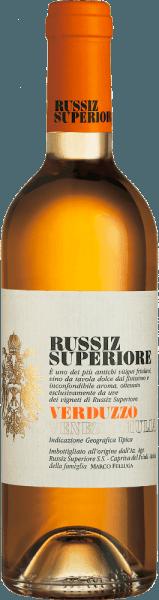 Deze single-varietal dessertwijn van Russiz Superiore is gevinifieerd van druiven van het Verduzzo Friulano druivenras. De Verduzzo Venezia Giulia van Russiz Superiore ademt verleidelijk zoete aroma's van abrikozen, kweepeer en honing. Deze aroma's zijn ook terug te vinden in de smaak van de Verduzzo, die wordt afgerond met nootachtige tonen van kastanjes. Spijsadvies voor deVerduzzo Venezia GiuliavanRussiz Superiore Deze dessertwijn uit Noord-Italië past uitstekend bij fruitige desserts of ook bij gerijpte zachte kaas.