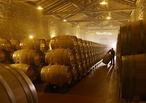 The Bodegas Muga wine cellar