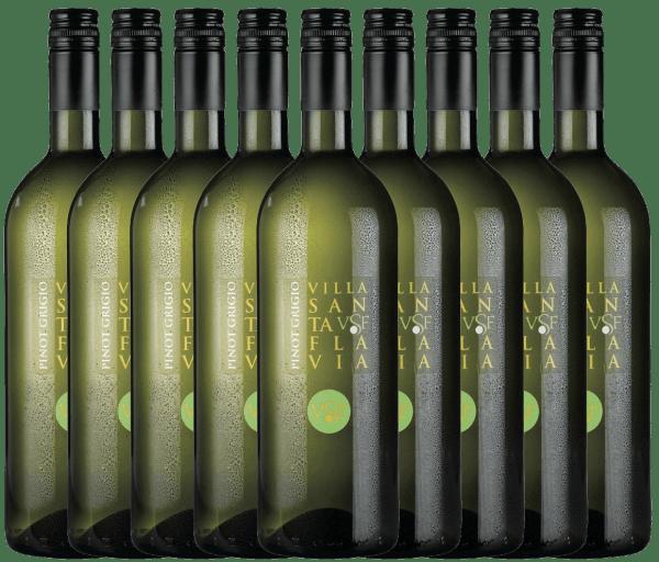De Pinot Grigio van het wijnhuis Villa Santa Flavia biedt een fris, mild wijngenot. In de neus en de mond fruitig-frisse aroma's van knapperige appels met subtiele kruidentonen. Koop de Italiaanse witte wijn in de praktische 9 voordeel verpakking. Leer meer over deze droge witte wijn uit Italië in het enige artikel van dePinot Grigio van Villa Santa Flavia.