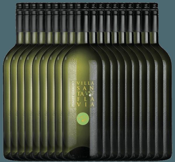 De Pinot Grigio van het wijnhuis Villa Santa Flavia biedt een fris, mild wijngenot. In de neus en de mond fruitig-frisse aroma's van knapperige appels met subtiele kruidentonen. Koop de Italiaanse witte wijn in de praktische 18 voordeelverpakking. Leer meer over deze droge witte wijn uit Italië in het enige artikel van dePinot Grigio van Villa Santa Flavia.