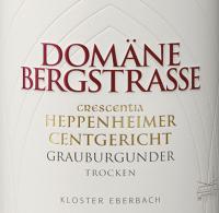 Voorvertoning: Heppenheimer Centgericht Grauburgunder Crescentia 2019 - Domäne Bergstraße - Kloster Eberbach