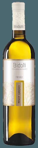 De Pinot Grigio Grave del Friuli van Bidoli presenteert zich met een helder gele en groenige reflecties in het glas. Het bouquet van deze Italiaanse Pinot Grigio doet denken aan een fruitcocktail met de heerlijke aroma's van citrusvruchten, perziken, abrikozen en meloenen. Deze witte wijn overtuigt in de mond met zijn volle body en een krachtige, levendige en minerale indruk. Deze wijn wordt afgerond met een elegante afdronk. Spijsadvies voor de Pinot Grigio van Bidoli Geniet van deze droge witte wijn bij lichte soepen, bijvoorbeeld een courgettesoep, zalmrolletjes met spinazie en roomkaas of bij kipspiesjes.