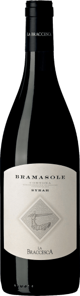 De Bramasole Syrah Cortona DOC van La Braccesca presenteert een intense robijnrode kleur in het glas. In de neus verrassen aroma's van rijp rood bessenfruit in een mooi evenwicht met kruidige en tabakstonen. In de mond onthult deze schitterende rode wijn zijn volle potentieel met een rijkdom aan indrukken, complexe aroma's, getroffen karakter, volle, fruitige evenwichtige body. De afdronk is zeer lang, aanhoudend en zacht. Vinificatie van de Bramasole Syrah Cortona DOC van La Braccesca Deze wijn van 100% Syrah toont eens te meer het potentieel van dit terroir. Hier voelt de Syrah zich goed op kleiachtige, schrale, droge bodems aan de voet van de heuvel van Cortona. De Syrah-druiven voor de Bramasole komen van de meest zonovergoten plek van de wijngaard. Een wijn die evolueert met de tijd en het verhaal vertelt van een nieuwe druivensoort in een oud en traditioneel wijnbouwgebied. Na de selectieve handmatige oogst van de druiven, de ontsteling en de zachte persing, wordt de most overgebracht in roestvrijstalen tanks waar de alcoholische gisting plaatsvindt. De maceratie op de schillen vindt eerst plaats bij lage temperaturen om de aromatische bestanddelen zo goed mogelijk te extraheren, en vervolgens bij een gecontroleerde temperatuur van ongeveer 28°C om de tannines en de kleur te extraheren. De wijn blijft ongeveer 20 dagen op de schillen liggen voordat hij wordt overgeheveld naar nieuwe en tweede gebruikte Franse barriques voor malolactische gisting. Daarna volgt een rijping in barriques gedurende 18 maanden en, na botteling in het tweede voorjaar na de druivenoogst, een verdere rijping in de fles gedurende 14 maanden. Pas dan is de Bramasole klaar voor de verkoop. De Bramasole heeft een opslagpotentieel van ongeveer 10 jaar. Het wordt aanbevolen het 2 uur voor het opdienen te openen. Spijsadvies voor de Bramasole Syrah Cortona DOC van La Braccesca Een krachtige, elegante rode wijn uit Toscane die perfect past bij smaakvolle en kruidige gerechten met rood vlees en