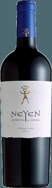Carménère Cabernet Sauvignon van Neyen Winery is een Chileense rode wijn gevinifieerd van de druivensoortenCarménère (55%) en Cabernet Sauvignon (45%). In het glas vertoont hij een dichte paarse kleur met violette reflecties. Het bouquet onthult krachtige aroma's van verse aardbeien, pruimen en cassis. De aroma's van de neus worden ondersteund door hints van witte peper en bourbon vanille. Het gehemelte wordt bedorven door zachte, rijpe tannines. De afdronk is heerlijk lang en toont het evenwichtige karakter van deze Chileense rode wijn. Vinificatie van de rode wijn van Neyen De druiven voor deze rode wijn uit Chili komen uitColchagua Valley en Central Valley en worden zorgvuldig met de hand geoogst. De cuvée rijpt 12 maanden in barriques van Frans eikenhout. Dit geeft deze rode wijn zijn onmiskenbare noot van vanille. Aanbevolen voedsel voor de NeyenCarménère Cabernet Sauvignon Geniet van deze droge rode wijn bij lamsbout met kruidenkorst of bij gebakken groenten. Prijzen voor deCarménère Cabernet Sauvignon van Neyen Winery James Suckling: 93 punten voor 2011 Wine Advocate: 92 punten voor 2011 Wine Spectator: 90 punten voor 2011 Wine & Spirits Magazine: 94 punten voor 2011