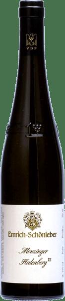 De Große Riesling Gewächs uit de Monzinger Halenberg van Emrich-Schönleber schittert goudgeel in het glas.In het glas ontwikkelen zich volrijpe aroma's van sappig geel fruit, aroma's van grapefruit vullen deze aan. In de mond van Schönleber's Halenberg GG voelt men de fijne, zilte mineraliteit en een duidelijke precieze zuurgraad onderbouwt de volle body. Een expressieve Riesling met veelgelaagde aroma's en elegante finesse, die complexer wordt naarmate hij rijper wordt.