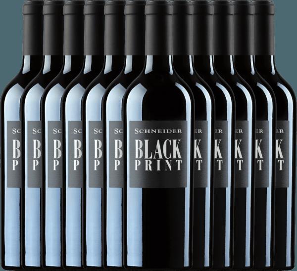 12er Vorteils-Weinpaket - Black Print trocken 2018 - Markus Schneider