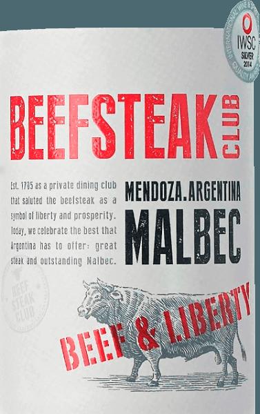 DeBeef & Liberty Malbec van Beefsteak Club schittert in een diep donkerrood. Het bouquet onthult intense aroma's van rijpe pruimen en subtiele hints van chocolade. Het gehemelte toont een kruidig, sappig en veelgelaagd karakter - onderstreept door fijne barrique tonen. De fijne tannines zijn goed geïntegreerd in de body van de Argentijnse rode wijn. Vinificatie van deBeef & Liberty Malbec Na de gisting rijpt deze rode wijn in totaal 6 maanden in barriques. Dit geeft deze Malbec zijn subtiele houttonen. Spijs aanbeveling voor de Beefsteak Club Malbec Geniet van deze droge rode wijn bij barbecues met familie en vrienden of bij diverse groentesticks met dipsaus. Onderscheidingen voor de Malbec Beef & Liberty Berlijn Winetrophy: goud voor 2017 Drinks Business Global Masters: brons voor 2016 International Wine & Spirits Competition: Zilver voor 2016
