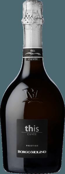 DeCuvée Deze BrutvanBorgo Molinowordt geproduceerd volgens de Metodo Ganimede. In speciale gistkuipen ondergaan de druiven gisting en maceratie in een gesloten circuit waarin de CO2 die tijdens de gisting vrijkomt, de druivenschillen voortdurend in contact houdt met de most. Het natuurlijke aroma en de rasechtheid van de afzonderlijke druivensoorten worden bijzonder benadrukt. Het resultaat is een elegante cuvée waarin de natuurlijke en rasspecifieke aroma's van de druiven tot hun recht komen.  De strogele cuvée van Glera en Riesling schittert met een fijne en lang aanhoudende perlage. De neus onthult een delicate en aangename geur. De goed gestructureerde wijn komt evenwichtig en fris over in de mond.  Hij is zeer geschikt als aperitief, als begeleider van koude voorgerechten, schaaldieren en visgerechten.
