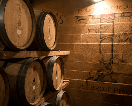 In the barrel cellar of de Toren