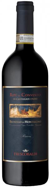 De Ripe al Convento di CastelGiocondo Brunello di Montalcino Riserva DOCG van Tenuta di CastelGiocondo by Frescobaldi is een uitzonderlijke cru met een sterke persoonlijkheid en begiftigd met een groot rijpingspotentieel. Met name het jaar 2010 heeft de ideale omstandigheden geschapen voor de creatie van grote wijnen. De Ripe al Convento di Castelgiocondo Brunello Riserva presenteert zich in een krachtige robijnrode kleur met granaat reflecties, van mooie diepte van kleur, zeer dicht en helder. In de neus verrast hij met intense en complexe aroma's, waaronder eerst fruitige aroma's van kleine rode en zwarte bessen zoals braam en zwarte bes en vervolgens pruim, gevolgd door kruidige tonen van vanille, gebrande koffie, cacao en tabak. In de mond is deze Brunello Riserva zacht en evenwichtig in alcohol en zuurgraad, warm enrijk met mooi geïntegreerde tannines. Lange, dichte afdronk met mooie fruitige, kruidige smaken in de afdronk. Productie van de Ripe al Convento di CastelGiocondo Brunello di Montalcino Riserva van Frescobaldi De druiven voor deze krachtige Brunello di Montalcino Riserva Cru groeien in de wijngaarden Ripe al Convento van het wijnhuis CastelGiocondo op ongeveer 350 tot 450 m.a.s.l. De druiven van de Sangiovese Grosso worden selectief geoogst, de maceratie van 1 maand en de malolactische gisting worden gevolgd door de rijping in houten vaten van Slavonisch eiken en barriques van Frans eiken. De rijpingsperiode is zes jaar vanaf 1 januari na de oogst, pas dan wordt de Brunello Riserva vrijgegeven voor verkoop. Deze Brunello Riserva van Tenuta CastelGiocondo wordt alleen in de beste wijnjaren geproduceerd. Food pairing voor deRipe al Convento di CastelGiocondo Brunello di Montalcino Riserva van Frescobaldi Geniet van deze voortreffelijke topwijn als meditatiewijn of bij gebraad, verfijnde gerechten met rood vlees of wild en bij harde, rijpe kazen. Awards James Suckling - 98 puntenThe Wine Advocate - 93 puntenVinous - 94 puntenWine Spectator - 95 puntenVi