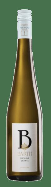 De Riesling Charta QBA van Wein- und Sektgut Barth fonkelt goudgeel in het glas en straalt zijn bouquet uit met de fijne aroma's van citrus en abrikozen. Deze karaktervolle Riesling uit Hattenheim, Rheingau, imponeert in de mond met zijn indruk van karakter, zijn fijne restzoetheid en zijn interessante spel van fruit. De aangename mineraliteit maakt deze Riesling bijzonder evenwichtig. Een fruitige en pittige witte wijn, de ideale begeleider van gerechten. Vinificatie voor de Riesling Charta De wijnstokken voor deze biologische wijn zijn geworteld op lössleemgronden in de Rheingau. De druiven worden selectief met de hand geoogst. Daarna volgt een spontane gisting in roestvrijstalen tanks, die wordt gevolgd door een lange rijping op de fijne gist. Sinds 1983 worden de wijnen van CHARTA onderworpen aan strenge criteria, die gebaseerd zijn op beproefde Rheingause kwaliteitsconcepten en zo een herkenningswaarde creëren voor Rieslings uit de Rheingau. CHARTA wijnen worden gemaakt van 100% Riesling en de druiven worden volledig rijp geoogst van de beste wijngaarden. Spijsadvies voor de Riesling Charta Geniet van deze halfdroge witte wijn bij zeeduivel in dragonschuim, zomerse salades en asperges of bij gamba's in knoflookolie.