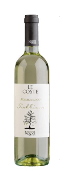 De Le Coste Trebbiano Romagna DOC van Poderi dal Nespoli fonkelt in het glas in een delicaat geel en ademt de heerlijke citrusaroma's van limoen en citroen. Het bouquet van deze wijn wordt afgerond door florale hints en groene appel. Deze tonen zijn ook terug te vinden in de mond van deze wijn. De Le Coste Trebbiano bekoort door zijn evenwichtige zuurgraad en de typische Trebbiano frisheid. De naam Le Coste komt van een lokale dialectuitdrukking die verwijst naar de hellingen waarop de wijngaarden van Poderi dal Nespoli zich bevinden. Spijs aanbeveling voor de Le Coste Trebbiano Geniet van deze droge witte wijn bij voorgerechten, pasta, geroosterde vis of krabsalade.