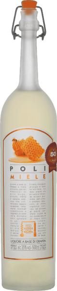 The Poli Miele Museo della Grappa from Jacopo Poli is a soft, fine-sweet grappa distilled from the marc of various Veneto grape varieties and flavoured with acacia honey and herbal oil essences. In the glass, this grappa has a very bright straw yellow colour with glittering reflections. The fine bouquet reveals aromatic notes of pine, orange and acacia blossoms and subtle hints of juniper. On the palate, this aromatised grappa is wonderfully soft with a fine sweetness that is perfectly accompanied by balsamic aromas. Distillation of the Jacopo Poli Miele Museo della Grappa The still fresh marc of the different grape varieties from the appellation Vicenza is traditionally distilled in old copper boilers. After distillation, this grappa still has 75% by volume. By adding distilled water, this grappa has an alcohol content of 35% by volume. After the addition of the acacia blossom honey and the fine herbs this Grappa rests for altogether 3 months in high-grade steel tanks, in order to be filled finally gently filtered on the bottle. Serving suggestion for the Poli Miele Museo della Grappa Jacopo Poli This Italian grappa is an excellent accompaniment to desserts made from short pastry or can be served as a beautiful conclusion to a delicious menu. Enjoy this Grappa at a temperature of 10 to 15 degrees Celsius.