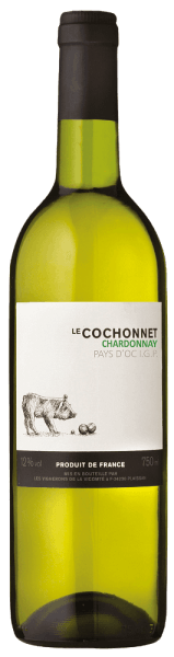 The clean, pure-toned Le Cochonnet Chardonnay Pays d' Oc I. G. P. from Vignerons de la Vicomté is enchanted with the aromas of vineyard peach and pear in the nose. On the palate you can feel the fine structure, a ripe exotic fruit paired with a very fine buttery note. The interplay of subtle citrus tones and a balanced acidity with juicy, light fruit gives rise to a lively and drinkable wine. Food recommendation for the Chardonnay 2015 - Le Cochonnet: It goes well with risotto, fish, veal and light meat dishes.