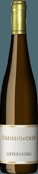 De Bechtheimer Geyersberg Riesling kwaliteitswijn droog van Dreissigacker is een biologische wijn gemaakt van biodynamisch geteelde druiven. Hij ruikt heerlijk naar kweepeer, groene thee en champagnepeer uit Stiermarken. In de mond is de Bechtheimer Riesling wijnachtig en sappig. Hij heeft een enorme innerlijke dichtheid met veel spanning in de mond en draagt een zilte mineraliteit in zich. De nagalm is lang.