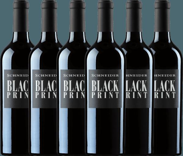 6er Vorteils-Weinpaket - Black Print trocken 2018 - Markus Schneider