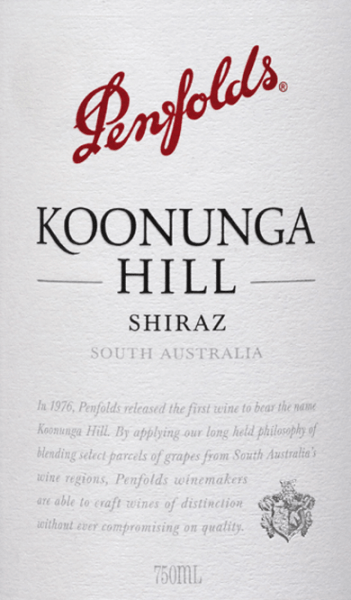 Koonunga Hill Shiraz 2018 - Penfolds von Penfolds Wines