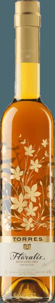 DeFloralis Moscatel Oro van Miguel Torres is gevinifieerd van deMoscatel druif (100%) en heeft een prachtige amberkleur in het glas. Deze single-varietal dessertwijn heeft een verleidelijk bouquet met een fijne bloemengeur van rozen en frisse aroma's van citrusvruchten. In de mond is deze zoete wijn sappig en heerlijk geconcentreerd. De afdronk overtuigt met een goede lengte en een aangename zoetheid. Vinificatie van de Miguel Torres Floralis Moscatel Oro De druiven worden geperst na een maceratie van 6 uur. Om de natuurlijke zoetheid te behouden, wordt vóór de gisting een wijndistillaat aan de most toegevoegd. De dessertwijn rijpt een jaar in stalen tanks. In de fles wordt deze dessertwijn nog 2-4 maanden bewaard tot deze zoete wijn voor de verkoop wordt vrijgegeven. Spijs aanbeveling voor de Floralis Moscatel Oro van Miguel Torres Deze Spaanse dessertwijn is een ideale begeleider van desserts/gebakjes met gedroogd fruit en honing of karamel topping of ook van het Spaanse dessertCrema Catalana.