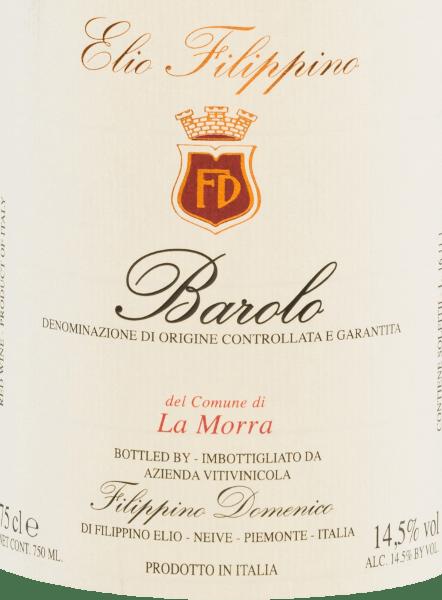 De La Morra Barolo DOCG van Elio Filippino presenteert zich in een krachtige granaatrode kleur met oranje accenten. Het intense bouquet wordt gekenmerkt door een complexe verscheidenheid van aroma's van rijpe bessen - vooral frambozen en bramen. Daarnaast discrete hints van druiven en pure chocolade. In de mond verwent deze Italiaanse rode wijn met een vol en duurzaam karakter dat ondanks al zijn kracht niet aan elegantie inboet. De afdronk is heerlijk lang en wordt begeleid door bessentonen. Vinificatie van deElio Filippino La Morra Barolo De Nebbiolo druiven voor deze cépage wijn worden met de hand geplukt en zorgvuldig geselecteerd in Elio Filippino's wijnmakerij. De most wordt vervolgens vergist in fermentoren met temperatuurregeling. Deze wijn rust in totaal 24 maanden in Slavonisch eikenhout nadat het gistingsproces is voltooid. Aanbevolen voedsel voor deBarolo Elio FilippinoLa Morra Geniet van deze droge rode wijn uit Italië bij allerlei gerechten met wild met cranberrysaus, bij gerijpte kazen, maar ook bij desserts met vers fruit.