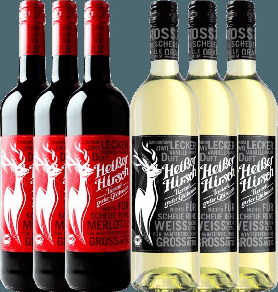Nu wordt het warm in de aanloop naar Kerstmis met ons 6 mixpakket biologische glühwein van Heißer Hirsch. Inbegrepen is zowel de rode als de witte glühwein. Geniet van de vegan glühwein met familie en vrienden en begin het adventsseizoen op een gezellige manier. Het Heißer Hirsch mix pakket bevat 3 flessen:Hete Herten rode glühwein 3 flessen: Heißer Hirsch witte glühwein