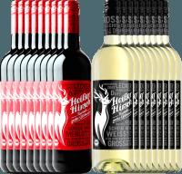 Voorvertoning: 18er Mixpaket - Bio-Glühwein rot & weiß - Heißer Hirsch