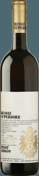 Deze single-varietal Pinot Grigio van Russiz Superiore wordt geproduceerd in de DOC Collio gebied. Hij krijgt extra complexiteit door de gisting van een deel van de druiven in eiken vaten. Deze levendige Italiaanse witte wijn verwent met een bouquet van peren en rijpe appels, evenals een nuance van brem. Deze Pinot Grigio uit Russiz Superiore wordt gekenmerkt door zijn goed geïntegreerde zuurgraad, heerlijk persistente afdronk en delicate fruitsmaken. Spijs aanbeveling voor de Pinot Grigio Collio van Russiz Superiore Deze Pinot Grigio is een delicate all-rounder voor de mediterrane keuken met wit vlees, of voor een chique buffet of feest. Prijzen voor dePinot Grigio Collio van Russiz Superiore Wine Spectator: 88 punten voor 2014 Wine Enthusiast: 91 punten voor 2012 Gambero Rosso: 3 glazen voor 2011