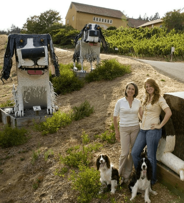 The winemakers Marimar and Christina Torres