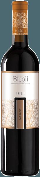 De Merlot Grave del Friuli van Bidoli fonkelt robijnrood in het glas en ontvouwt zijn open, fruitige en verleidelijke bouquet met aroma's van bosbessen, zwarte bessen en frambozen. Deze harmonieuze rode wijn uit Italië toont in de mond de aroma's van rood bessenfruit, zoals frambozen, en gaat met fluweelzachte tannines en een zachte indruk over in een fruitige afdronk. Aanbevolen voedsel voor de Merlot van Bidoli Geniet van deze droge rode wijn bij gevogelte, rib-eye steak met ovengroenten of halfgerijpte kaas.