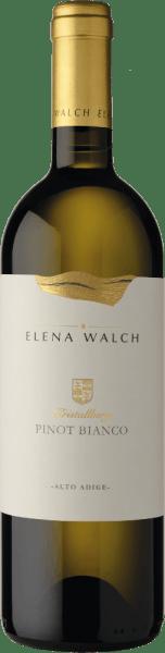De Pinot Bianco Kristallberg van Elena Walch toont zich met een veelgelaagd bouquet en ademt fruitaroma's van groene appel en witte perzik, evenals een duidelijke mineraliteit. In de mond overtuigt deze witte wijn met zijn soepele structuur en harmonie. Deze wijn is zacht, elegant en met een lange afdronk. Vinificatie van de Pinot Bianco Kristallberg door Elena Walch De druiven voor deze Pinot Bianco groeien in Altenburg tussen Tramin en Kaltern op de bergkam van het Mendelgebergte , op 600 meter boven zeeniveau, waar ze profiteren van de uitstekende klimatologische omstandigheden. De Rotsstructuur heeft talrijke kleinere en grotere kristallen van kwarts, biotiet, porfierstructuur en andere mineralen. De zachte persing van de druiven wordt gevolgd door statische klaring en gisting bij een gecontroleerde temperatuur van ongeveer 20° Celsius. 15% van de most wordt vergist in Franse eiken vaten waar het 5 maanden rijpt. De assemblage vindt dan plaats in het voorjaar. Spijsadvies voor de Pinot Bianco Kristallberg van Elena Walch Geniet van deze droge witte wijn bij gegrilde of geroosterde vis en gevogelte, pasta met sterke sauzen en kaas. Onderscheidingen voor de Elena Walch Kristallberg Pinot Bianco Wine Enthusiast: 92 punten voor 2015 James Suckling: 92 puntenvoor 2015 Falstaff: 91 puntenvoor 2015 Guida essenziale ai Vini d'Italia: 93 puntenvoor 2015