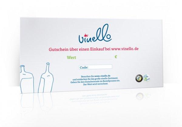 25 € VINELLO Geschenkgutschein im Umschlag, 300g Karton DIN A5 lang von VINELLO