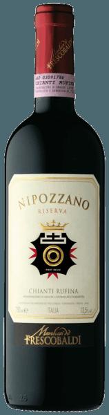 De Nipozzano Riserva Chianti Rufina DOCG van het wijnhuis Castello di Nipozzano van Frescobaldi heeft een heldere sterk paarse kleur. Het intense en complexe bouquet wordt gedomineerd door florale en fruitige aroma's zoals framboos, braambes, bosbes, gevolgd door geroosterde en kruidige tonen zoals nootmuskaat, koffie en thee. Warm, zacht en aangenaam kruidig in de mond met mooi geïntegreerde tannines, fris en elegant. Lange en aanhoudende afdronk. Meer informatie over de Nipozzano RiservaChianti RúfinaDOCG