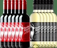Voorvertoning: 12er Mixpaket - Bio-Glühwein rot & weiß - Heißer Hirsch