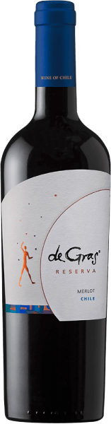 The pure De Gras Reserva Merlot by Viña Montgras has a purple red colour in the glass and an impressive bouquet of mint, vanilla, plum and black cherry aromas in the nose. This impression continues on the palate, where it harmonizes with a well integrated oak note and a complex texture. A long finale concludes. Food recommendation for De Gras Reserva Merlot by Viña Montgras This Chilean red wine goes well with grilled and roasted meat, ragouts and cheese.