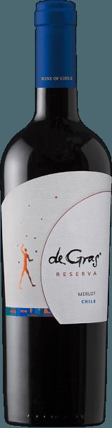 De single-varietal De Gras Reserva Merlot van Viña Montgras toont paars in het glas en maakt indruk op de neus met een boeket van munt, vanille, evenals pruimen en zwarte kersen aroma's. Deze indruk zet zich voort in de mond, waar hij harmonieert met een goed geïntegreerde eikenhouten noot en een complexe textuur. Het eindigt met een lange afdronk. Spijsadvies voor de De Gras Reserva Merlot van Viña Montgras Deze Chileense rode wijn past goed bij gegrild en geroosterd vlees, ragouts en kazen.