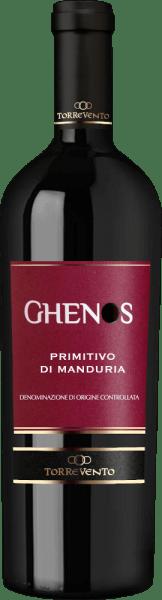 De Ghenos Primitivo di Manduria van Torrevento uit het Italiaanse wijnbouwgebied Apulië is een volle, rassige en aromatische rode wijn. In het glas straalt deze wijn een diep robijnrood met granaatkleurige accenten. De neus geniet van een intens, vol boeket dat weelderige aroma's onthult van sappige Amarena kersen, gekonfijte sinaasappelschil, florale tonen van rozen en kruidig-groente nuances van leer, koffie en vanille. In de mond maakt deze Italiaanse rode wijn indruk met een heerlijk strak geweven tanninestructuur die de volle body prachtig aanvult. De aroma's van de neus komen ook tot uiting en harmoniëren zeer goed met het zuur-zoet spel. De afdronk heeft een aangename lengte en chocoladeachtige nuances. Vinificatie van de Torrevento Ghenos De druiven voor deze Primitivo variëteit groeien in Apulië - het wijngebied DOC Primitivo di Manduria. De wijnstokken groeien op kleiachtige bodems. De druiven worden half september geoogst en onmiddellijk naar de wijnkelder van Torrevento gebracht. Daar worden de druiven eerst gefermenteerd in roestvrijstalen tanks. Dit wordt gevolgd door een maceratieperiode. Na de gisting rijpt deze rode wijn 10 maanden in roestvrijstalen tanks - gevolgd door 6 maanden in barrique vaten. Tenslotte rondt deze wijn harmonieus af in de fles voordat hij de wijnmakerij verlaat. Aanbevolen voedsel voor de Primitivo Torrevento Ghenos Deze droge rode wijn uit Italië is een uitstekende begeleider van gezellige barbecue-avonden met familie en vrienden. Maar deze wijn is ook een genot bij geselecteerde worst- en kaasspecialiteiten. Prijzen voor de Ghenos Primitivo di Manduria uit Torrevento Luca Maroni 91: punten voor 2016 Gambero Rosso: 2 glazen voor 2016