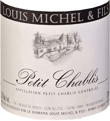 The bright, bright gold is interspersed with greenish highlights. The Petit Chablis from Domaine Louis Michel et Fils presents an aromatic bouquet of white flowers (vine blossom, hawthorn), spices and citrus fruits. On the palate there is a clear minerality with a lot of juicy fullness. The Peitit Chablis is an aromatic refreshing white wine with a fine spice and a hint of iodine, which immediately makes you want more. We recommend it as a refreshing aperitif, with seafood and fish, green salad or simply whenever you feel like a glass of fresh white wine!