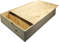 B-STOCK - 6 bottles wine wooden box with sliding lid