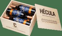 6er Vorteils-Weinpaket - Hécula Tinto DO in Holzkiste 2017 - Bodegas Castaño