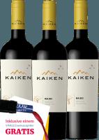 Voorvertoning: 3er Vorteils-Weinpaket - Kaiken Malbec 2019 - Viña Kaiken