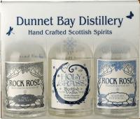 Rock Rose Gin Miniatur Triple Gift Pack - Dunnet Bay Distillery