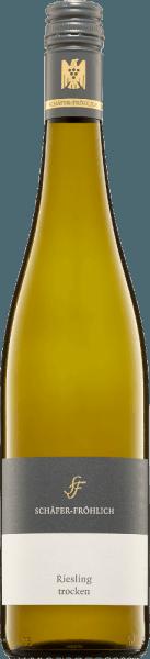 De neus van deze witte wijn komt op met een koele mineraliteit en peerfruit. Strak, helder en zeer fijn-sappig met een filigraan en fijne structuur presenteert zich de Riesling kwaliteitswijn van Schäfer-Fröhlich. Elegant en sierlijk is zijn stijl. De mineraliteit blijft koel en indringend lang in de mond. In de mond zijn verse kruiden en sappige peren waar te nemen, waardoor hij levendig en fris overkomt. Over het geheel genomen een harmonieuze en goed uitgebalanceerde wijn, waarvan de koele mineraliteit zelfs in de afdronk aanhoudt.