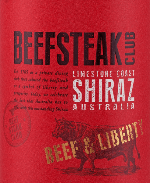 DeBeef & Liberty Shiraz van Beefsteak Club is een zuivere rode wijn uit Australië en presenteert zich in een donker paarsrood in het glas Het bouquet onthult expressieve aroma's van rijpe pruimen en sappige zwarte bessen. In de mond overtuigt deze wijn met een frisse, complexe, elegante en sappige persoonlijkheid. De kruidig-warme noten als gevolg van de houtrijping zijn perfect geïntegreerd in de krachtige body. De tanninestructuur is wonderbaarlijk fijn en begeleidt tot in de lange afdronk. Spijs aanbeveling voor de Beefsteak Club Shiraz Geniet van deze droge rode wijn bij gezellige barbecue-avonden met vis, vlees en groenten. Maar ook bij Spaanse tapas - warm of koud - en bij verschillende soorten kaas is deze wijn een genot.